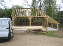 new timber garages erected with good prices and costs